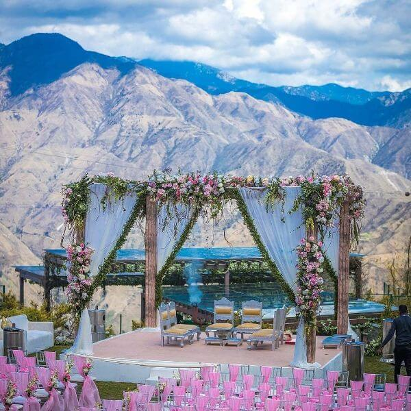 Wedding Stage Decoration for Destination Wedding