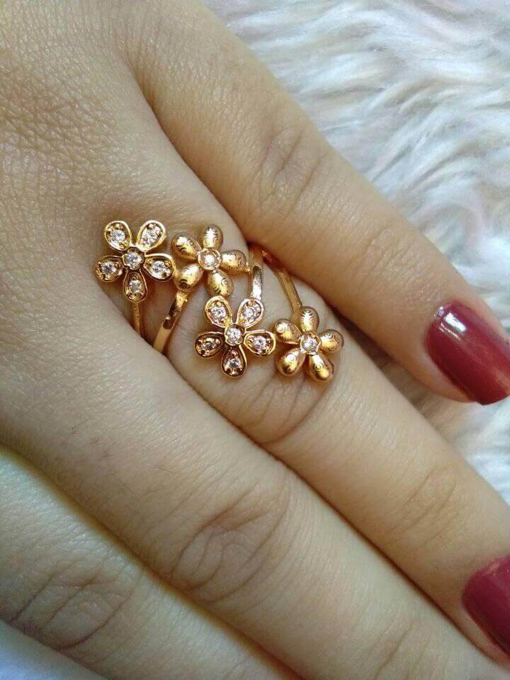 Gold plated Finger Ring Designs Beautiful Gold plated Finger Ring Designs