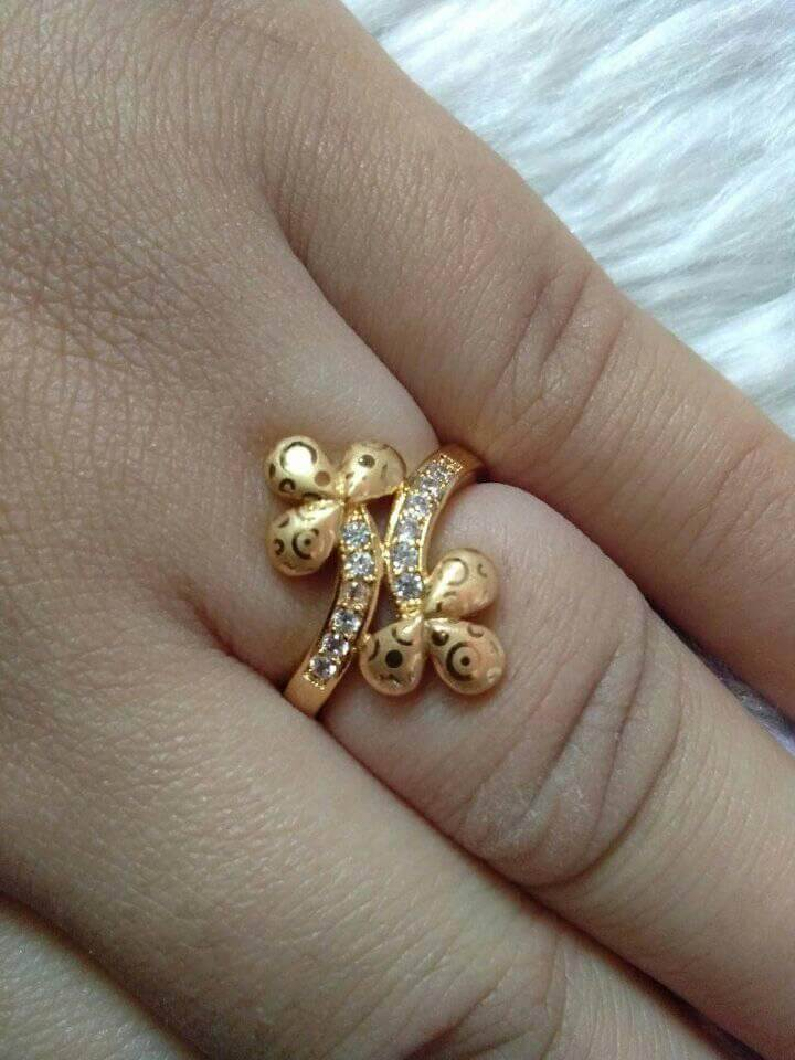 Beautiful Gold plated Finger Ring Designs Beautiful Gold plated Finger Ring Designs
