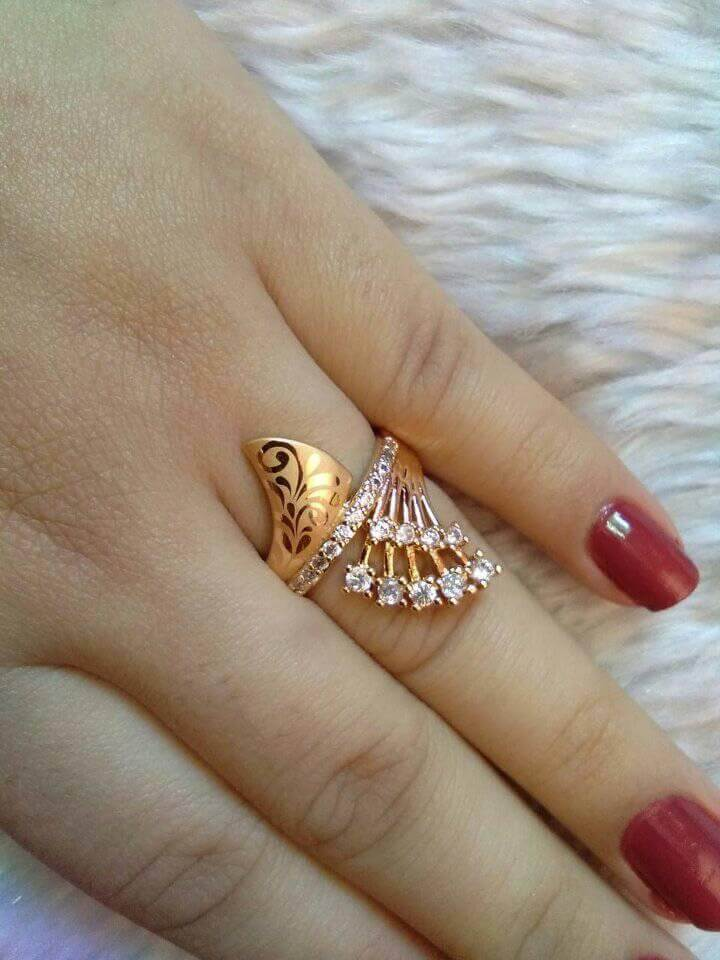 Beautiful Gold plated Finger Ring Designs