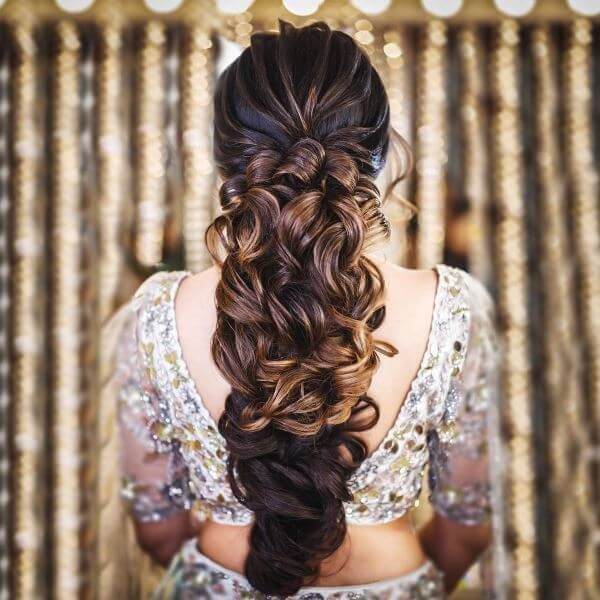 Knotted hairstyle