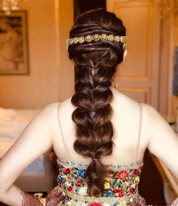 Fluffy hearts braid Elegant Hairstyles for Long Hair to Suit Your Style