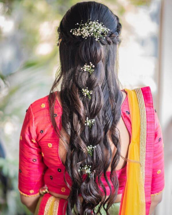 Braid with loose curls Elegant Hairstyles for Long Hair to Suit Your Style