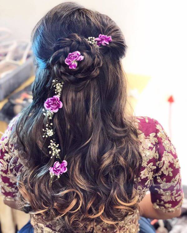 Wavy hair with braided bun Elegant Hairstyles for Long Hair to Suit Your Style