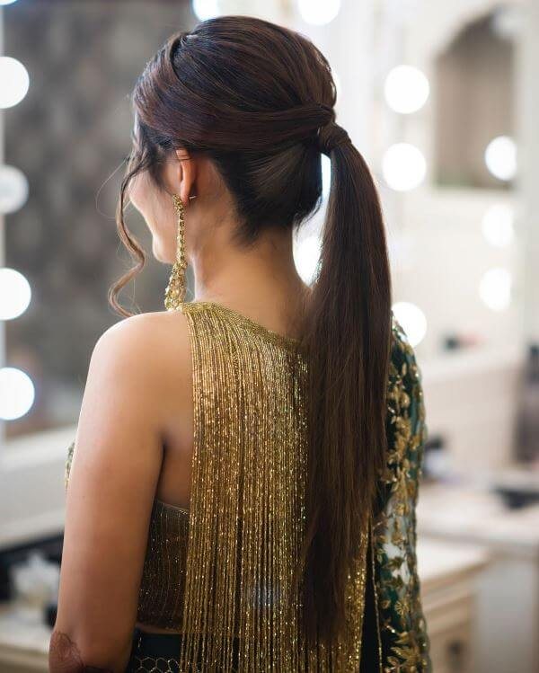 Sleek high ponytail Elegant Hairstyles for Long Hair to Suit Your Style