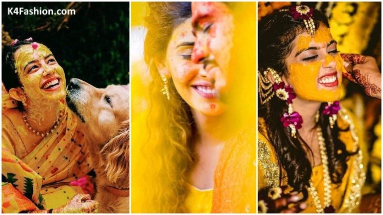 Unique Haldi Ceremony Photoshoot Ideas