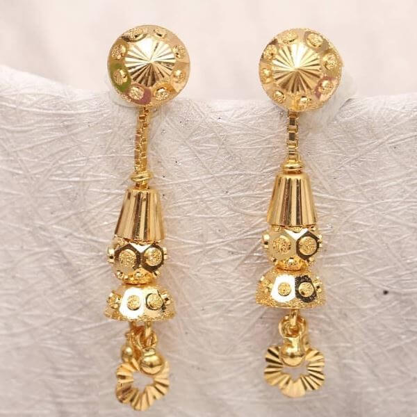 Circular earrings Light Weight Gold Latkan Earrings | Latest Designs