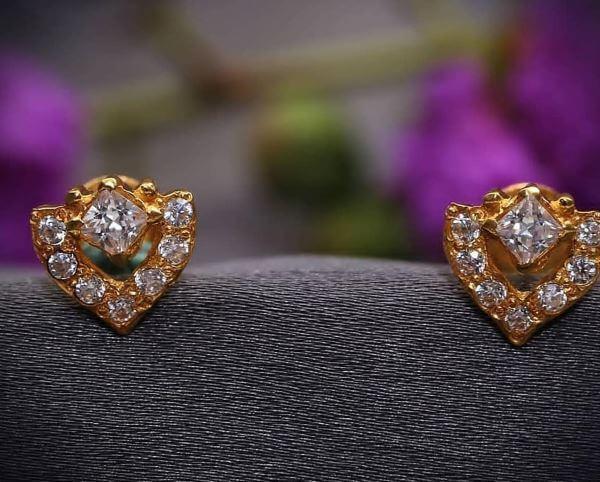 Stud Light Weight Gold Latkan Earrings | Latest Designs