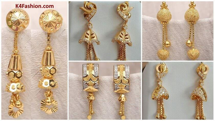 Light Weight Gold Latkan Earrings | Latest Designs