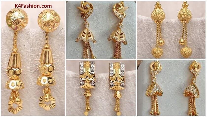 Light Weight Gold Latkan Earrings | Latest Designs