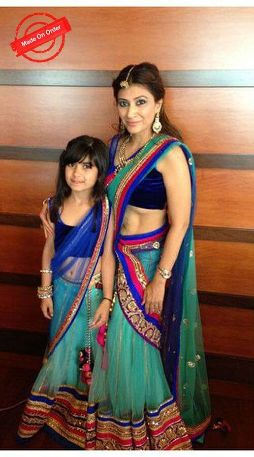 Matching lehenga for mother and daughter