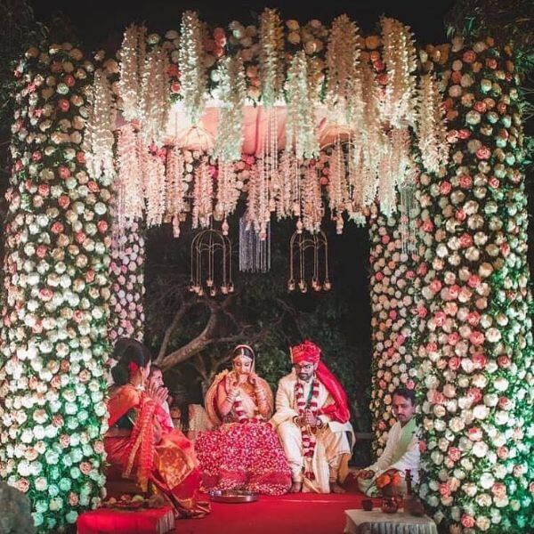 Traditional Mandap for Indian Wedding