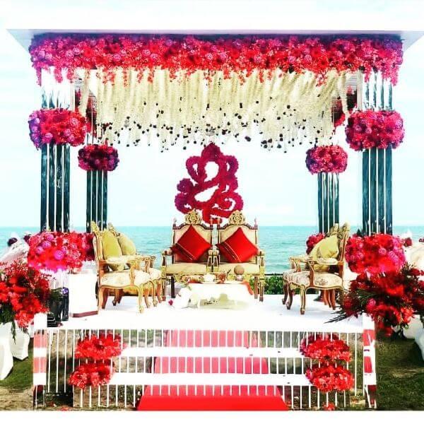 Traditional Mandap Decor with blessing of Ganesha
