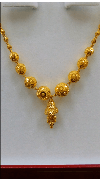 Beaded beauty Latest Gold Chain Designs Under 20 Grams Weight