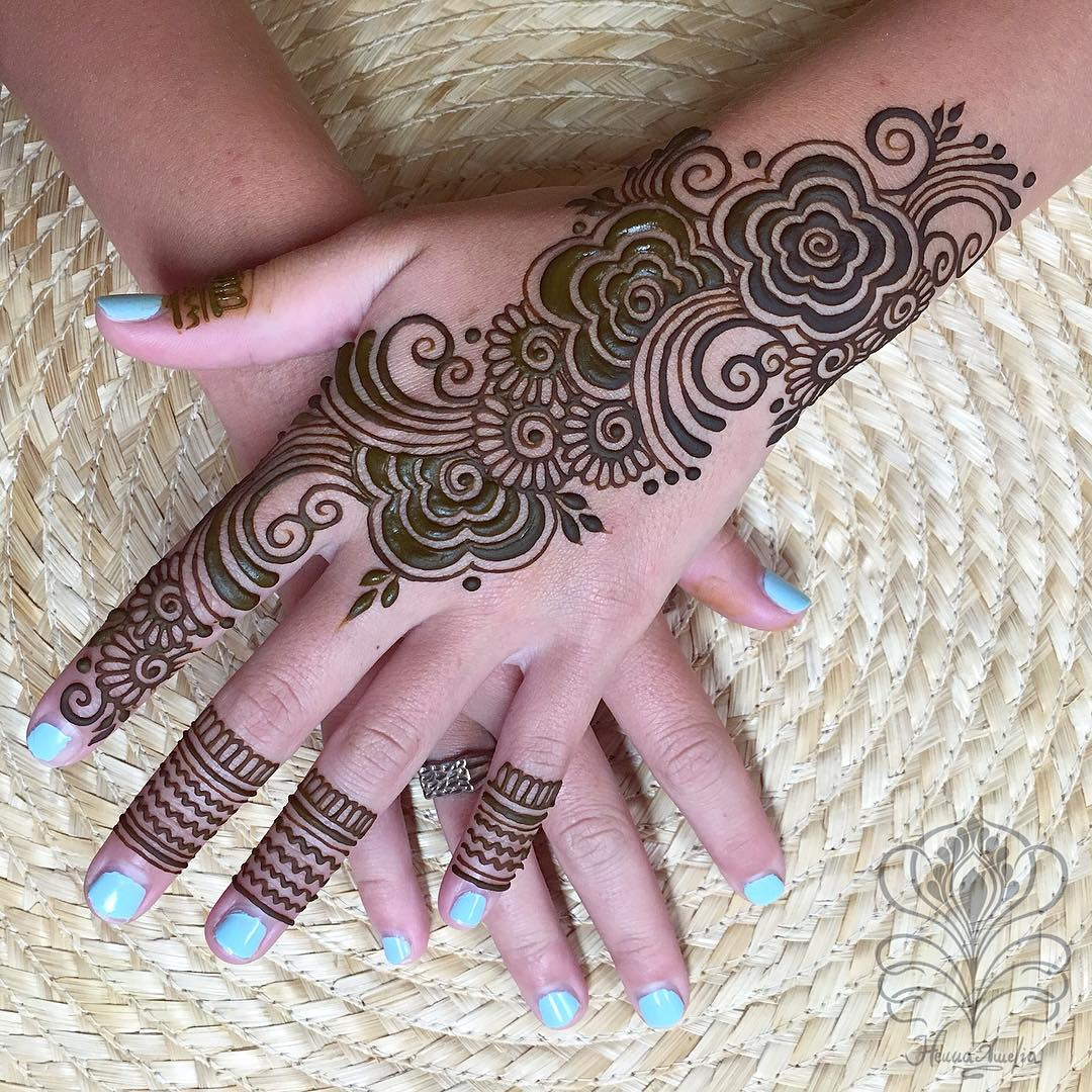 Simple Mehndi Design for Hand Patterns and designs: Easy Mehndi Designs Collection for Hand 2020
