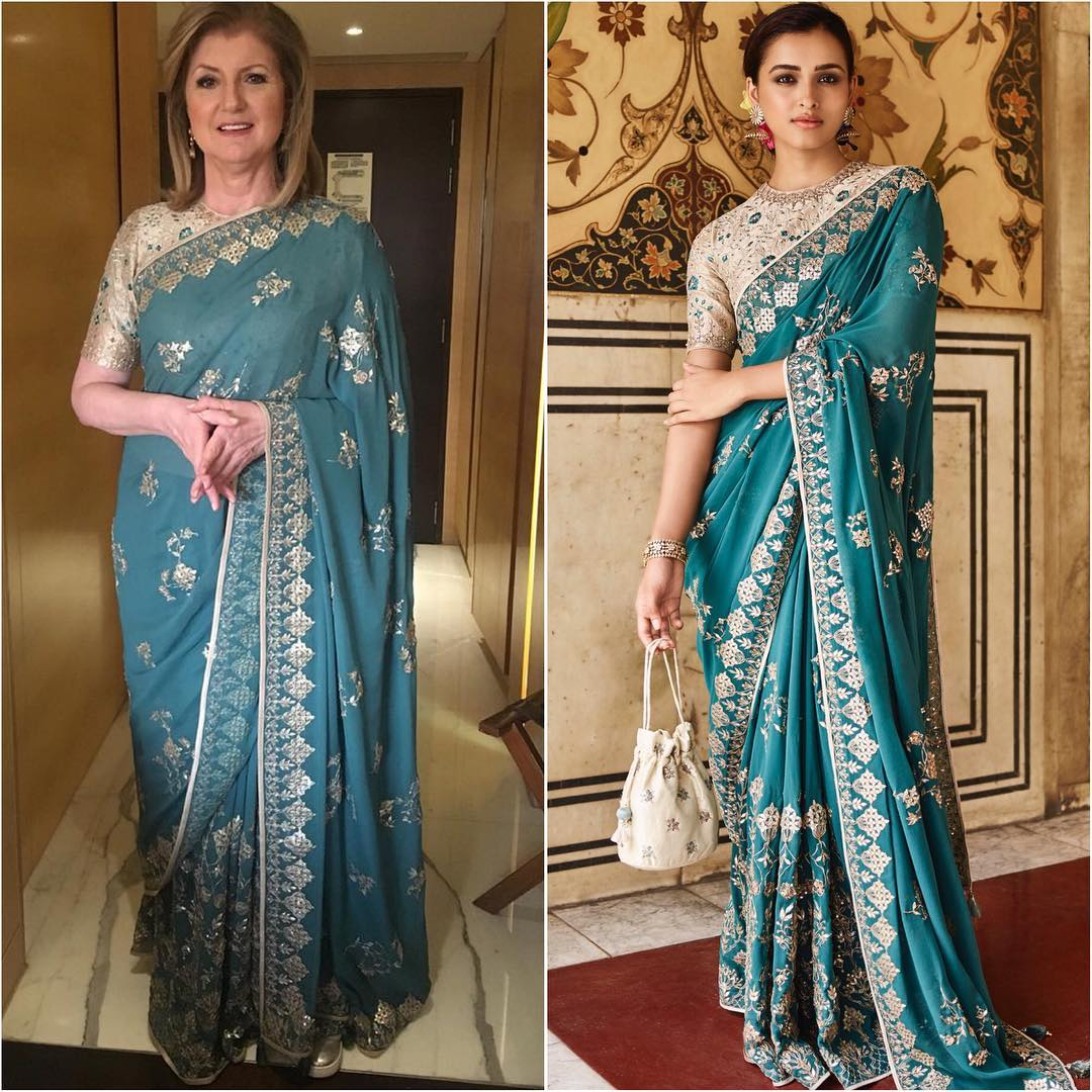Arianna Huffington in saree: Hot n Sizzling Designer Sarees from Bollywood Celebs