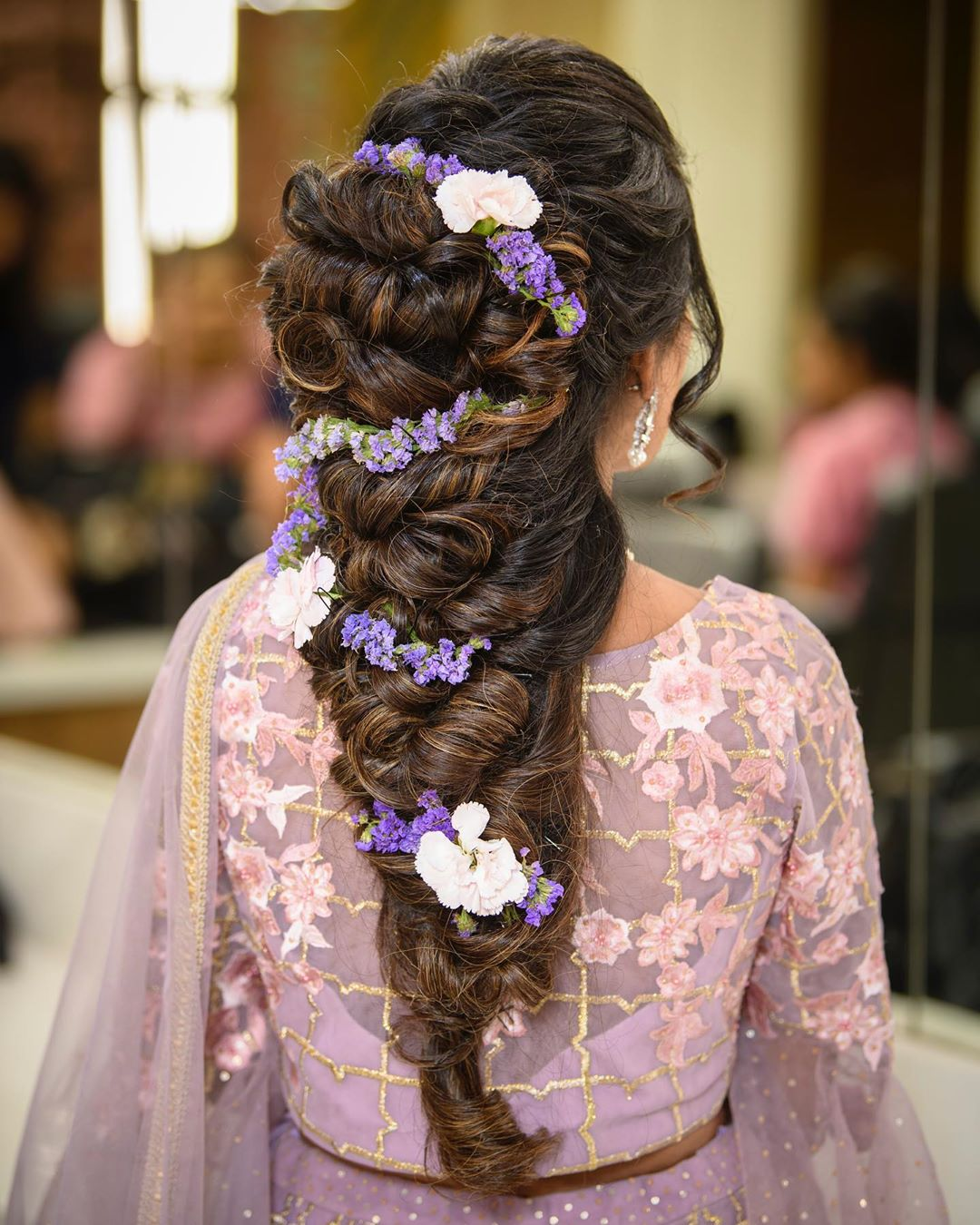Lavender magic: Floral hairstyles for Haldi and Mehendi Ceremonies!a