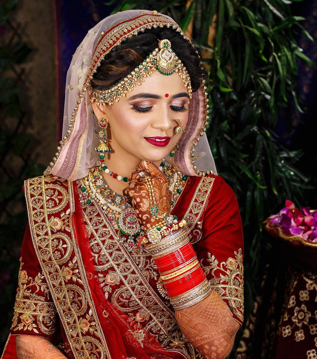 Warm toned makeup look: Indian Bridal Makeup Look in Celeb Style