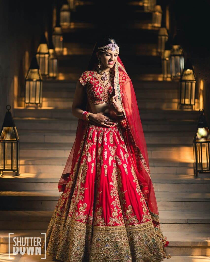 Blood red bridal lehenga Special Bridal Designer Lehenga Collection for Wedding