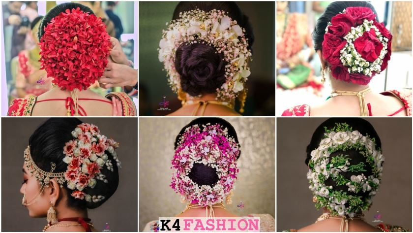 Terrific 15 Bridal Bun Hairstyles With Flower Jewellery K4 Fashion Schematic Wiring Diagrams Phreekkolirunnerswayorg