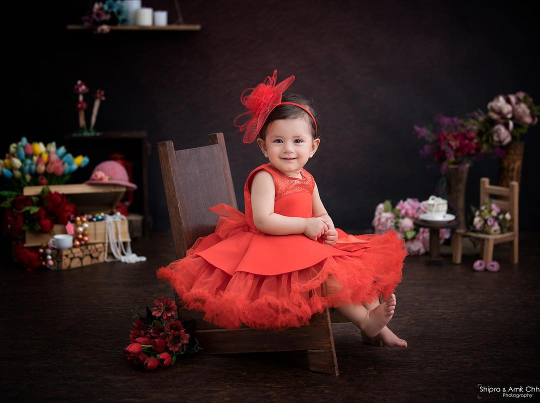 Red Gown For Little Girls Baby Girl Princess Dress Ideas for Memorable Photoshoot