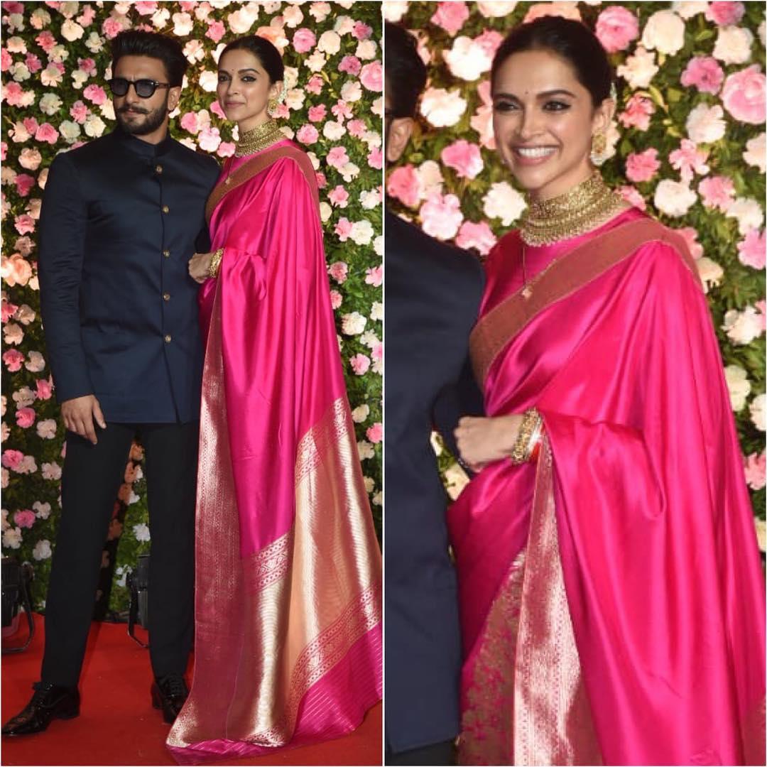 Deepika Padukone in pink saree: Hot n Sizzling Designer Sarees from Bollywood Celebs
