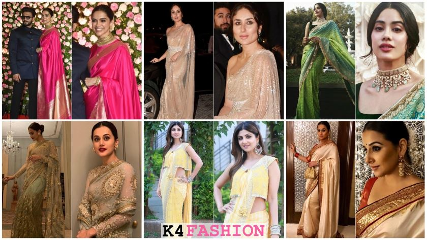 Hot Sizzling Designer Sarees from Bollywood Celebs