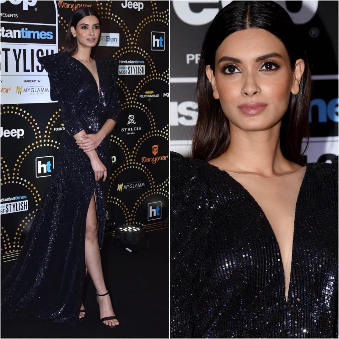 Diana Penty's black magic: Long Evening Dresses in Bollywood Style