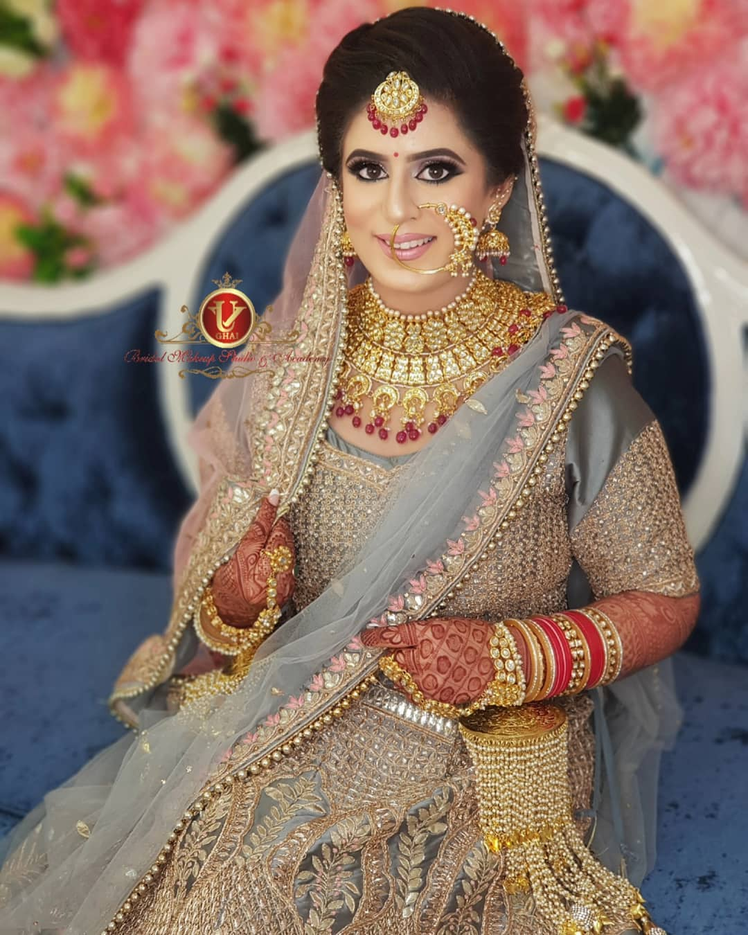 natural beauty in bridal makeup with jewellery, stylish hairstyles free images download hd