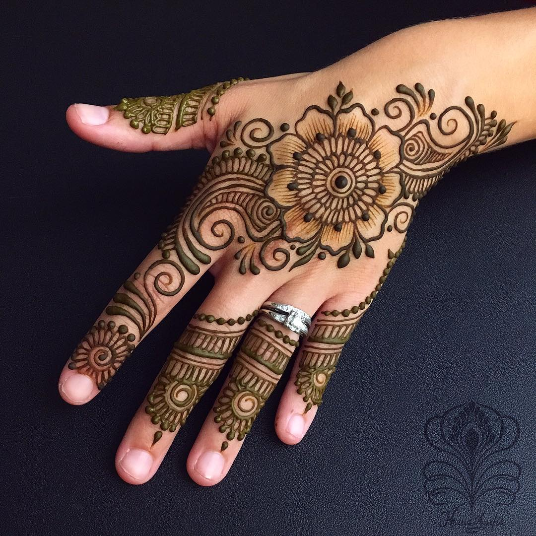 Easy Full Hand Mehndi Design , K4 Fashion