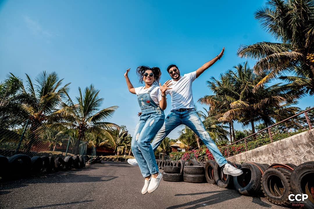 Fly with me: Pre-wedding Photoshoot for Indian Couples