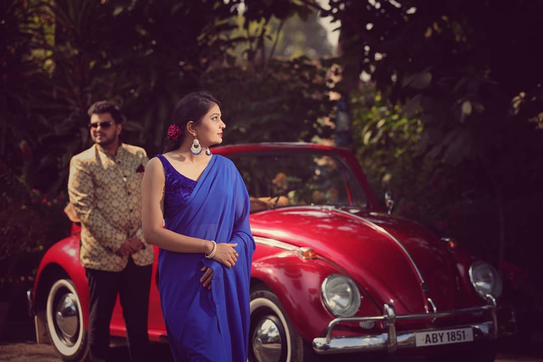 Go vintage: Pre-wedding Photoshoot for Indian Couples