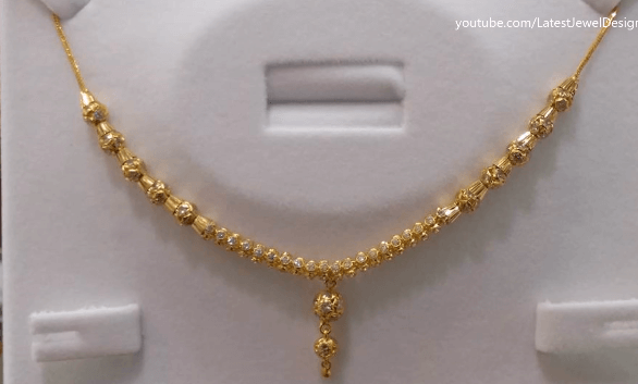 Gold chain with diamonds Latest Gold Chain Designs Under 20 Grams Weight