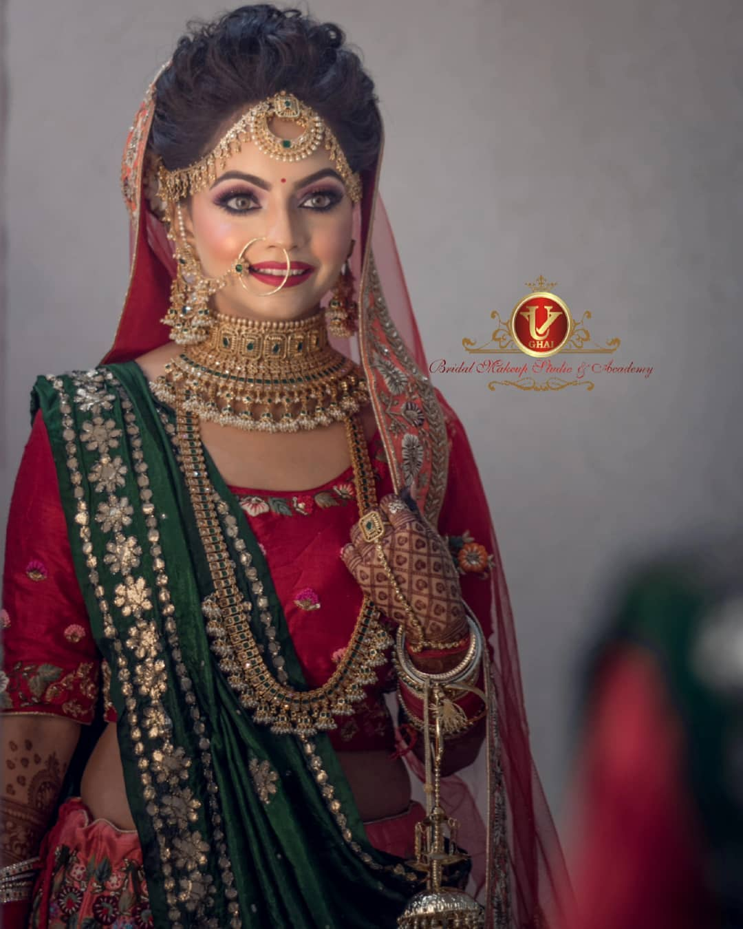 Traditional bridal look