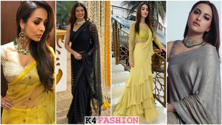 Hot Looks of Bollywood Actresses in Sarees