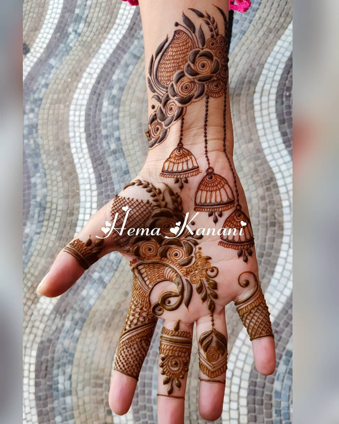 Jhumka design: Beautiful & Simple Mehndi Designs for Hand