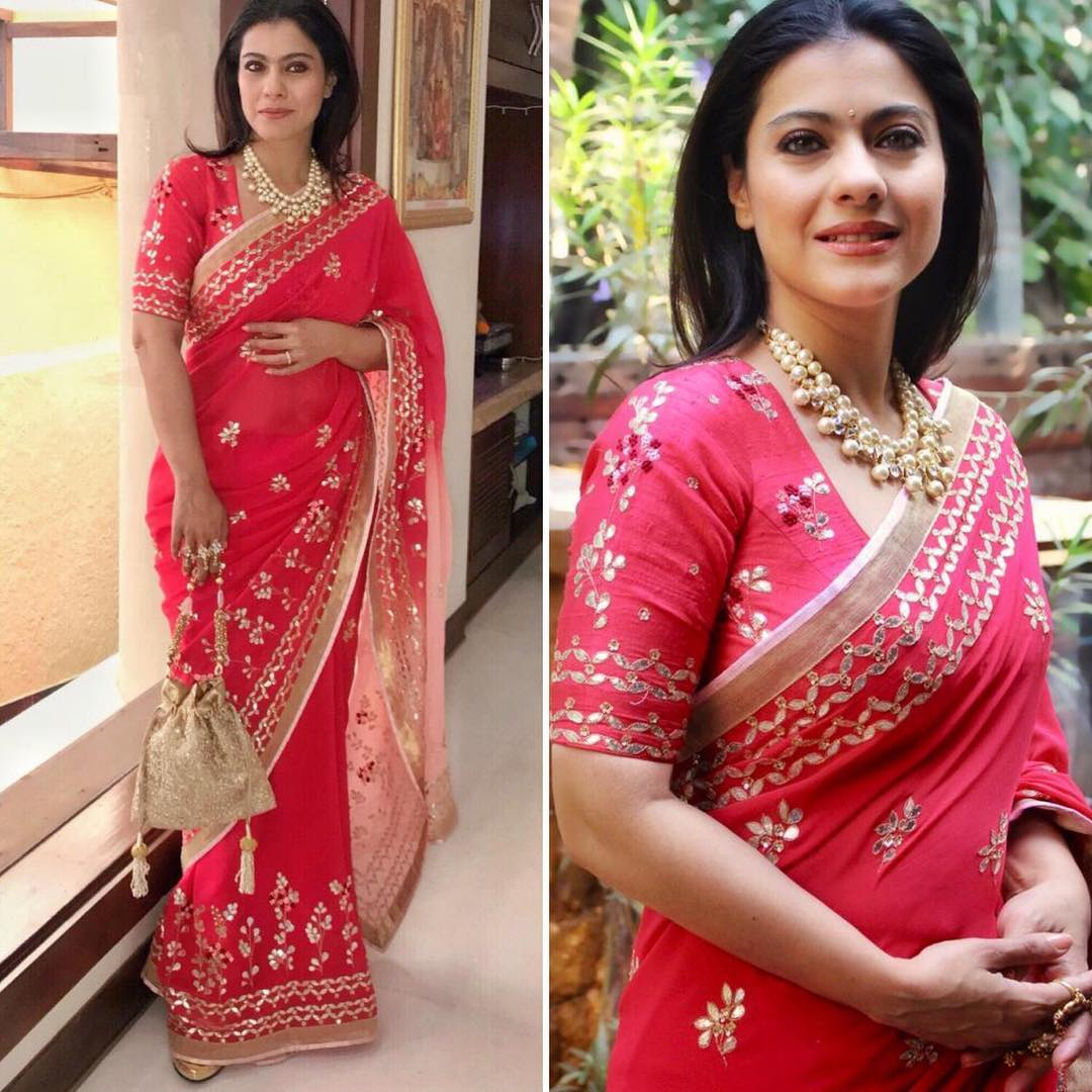 Kajol in red saree: Hot n Sizzling Designer Sarees from Bollywood Celebs