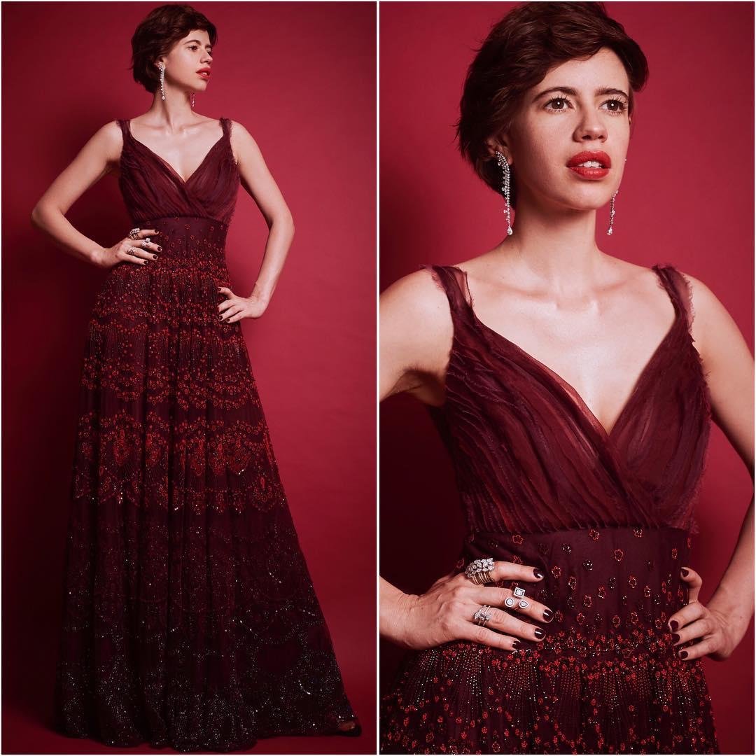 Kalki Koechlin rich in wine: Long Evening Dresses in Bollywood Style