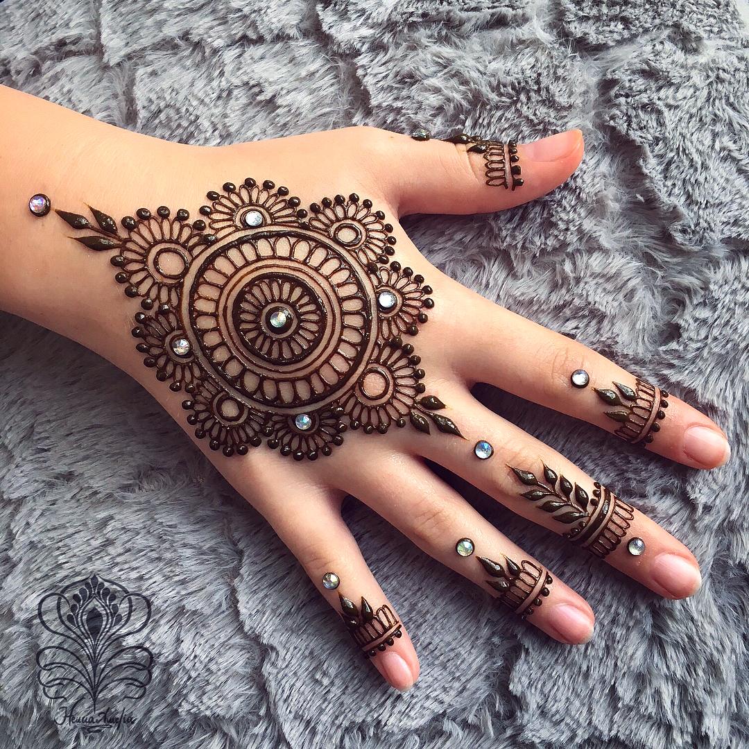 Mandala Henna Mehndi Design Easy Mehndi Designs Collection for Hand 2020