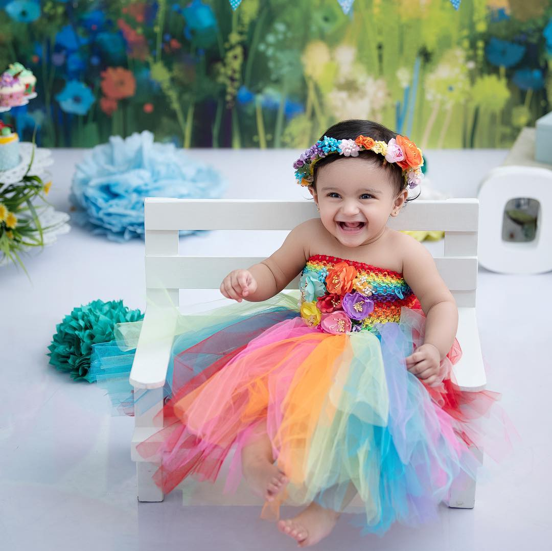 Girls Multicolored Tutu Dress Baby Girl Princess Dress Ideas for Memorable Photoshoot