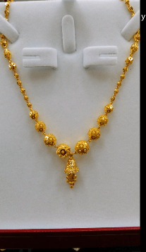 Necklace with bell-shaped pendant Latest Gold Chain Designs Under 20 Grams Weight