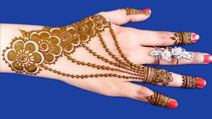 Rakhi Special Mehndi Design for Hands
