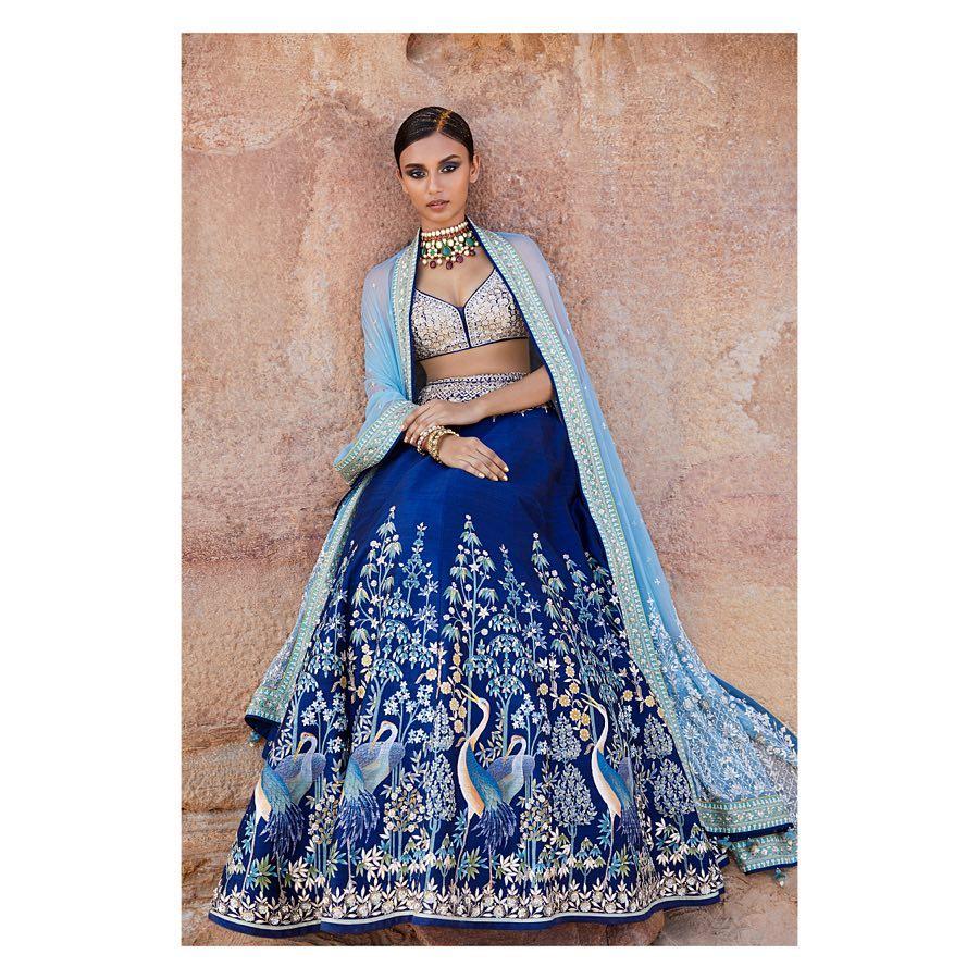 Parinda Lehenga: Silk Saree Designs Inspired from Bollywood Divas