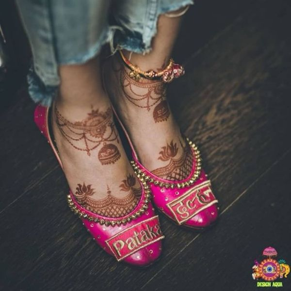 Hot pink embellished juttis Trendy Bridal Jutti Designs with Personalised Touch