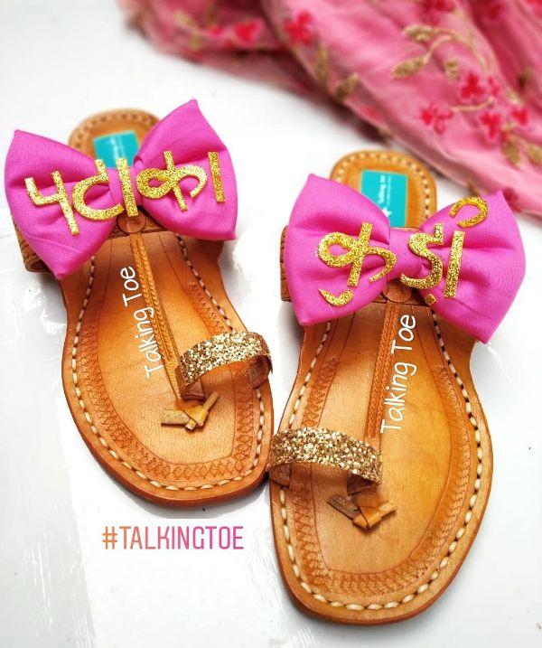 Pataka kudi chappals Trendy Bridal Jutti Designs with Personalised Touch
