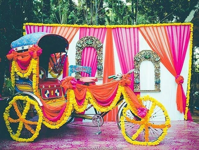 Photobooth Decoration Simple & Stylish Decoration Ideas for Haldi Function