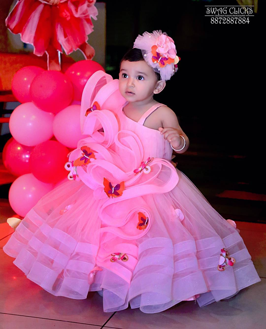 Baby Fancy Pink Gown For Little Girls Baby Girl Princess Dress Ideas for Memorable Photoshoot