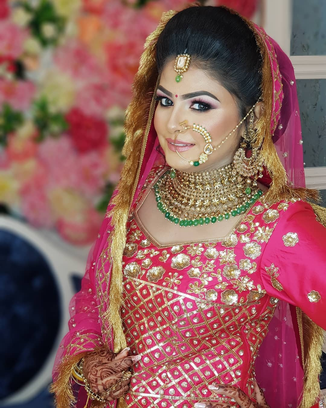 ink and Peach magic Indian Wedding Makeup Ideas for Brides