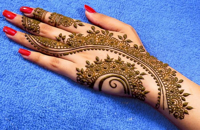 Rakhi Mehndi Design for Back Hand