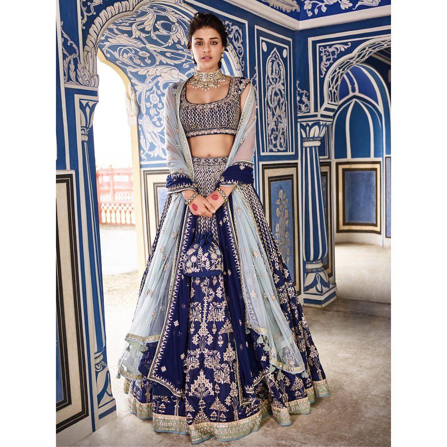 Anita Dongre Sanobar lehenga Sanobar lehenga: Silk Saree Designs Inspired from Bollywood Divas